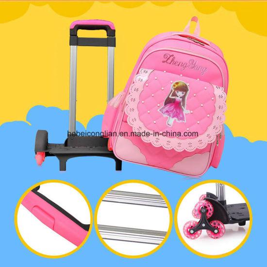 4283fa6bfe3e Pink Blue Black Purple Hard Styling Cartoon Girl Kids Backpack School Bag