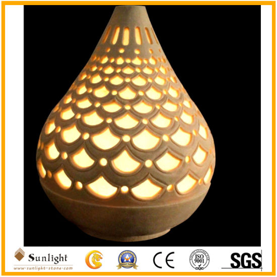 China New Creative Indoor And Outdoor Decoration Sandstone Vase