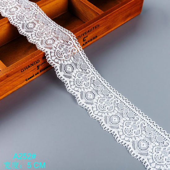 Flower Elastic Band Lace Trim for Sewing Underwear Clothing Garment Decorative Lace Ribbon