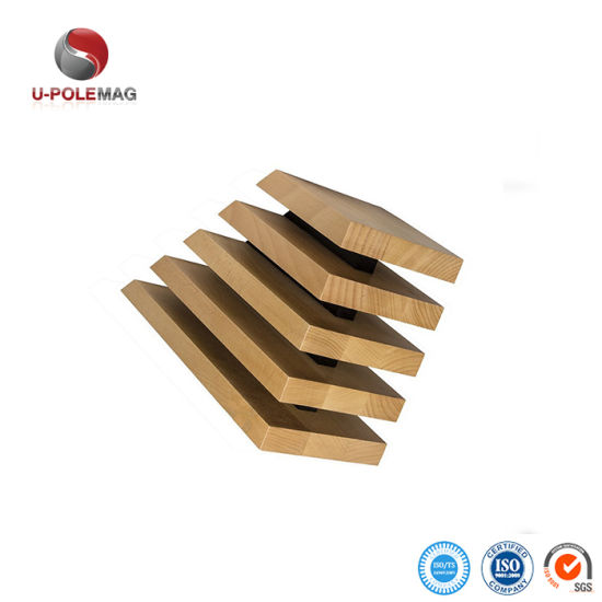 Eco-Friendly 5 Panel Solid Beech Wood Magnetic Knife Block pictures & photos