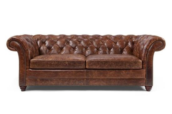China Brown Clic Chesterfield Sofa