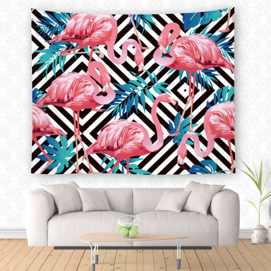 Wall Hanging 100% Polyester Colorful Flamingo Tapestry for Bedroom pictures & photos