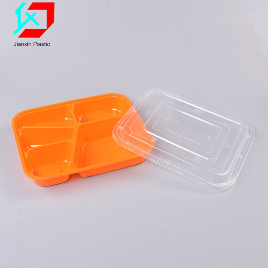 5 Compartments Plastic Lunch Box