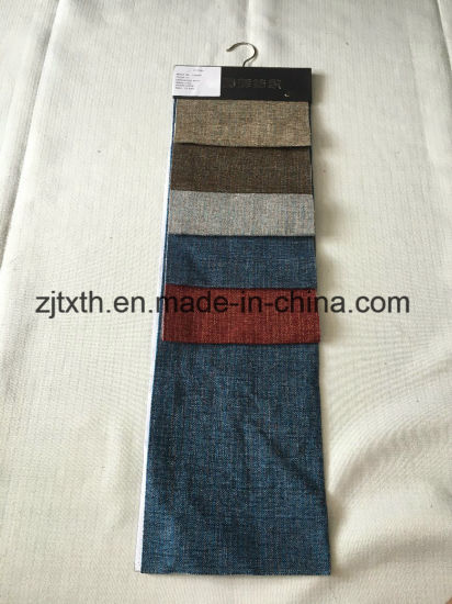 High Quality 100% Polyester Linen Sofa Upholstery Fabric