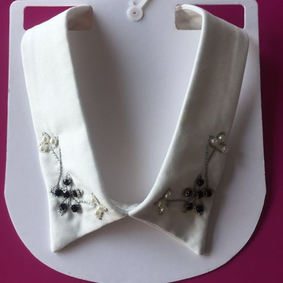 Fashion Handmade Pearl and Crystal Rhinestone Collar Neckline for Shirt Garment