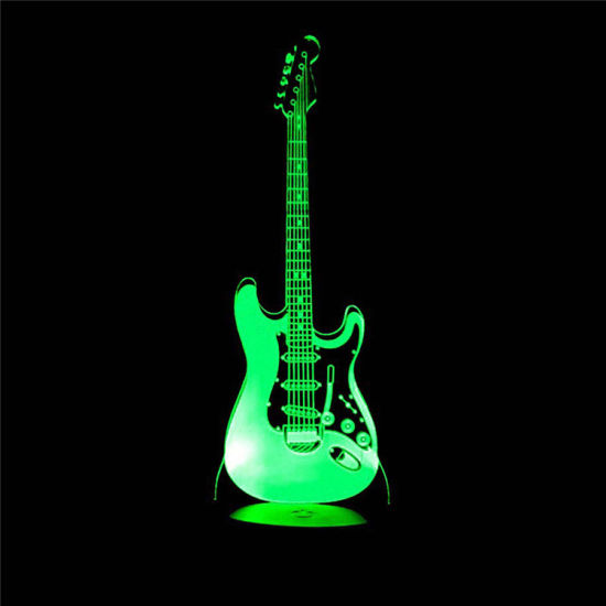 Led Lamps Led Table Lamps Guitar 3d Table Lamp Multi Color Touch Led Visual Table Lamps For Living Room Gift Atmosphere 3d Night Lamp Customization Great Varieties