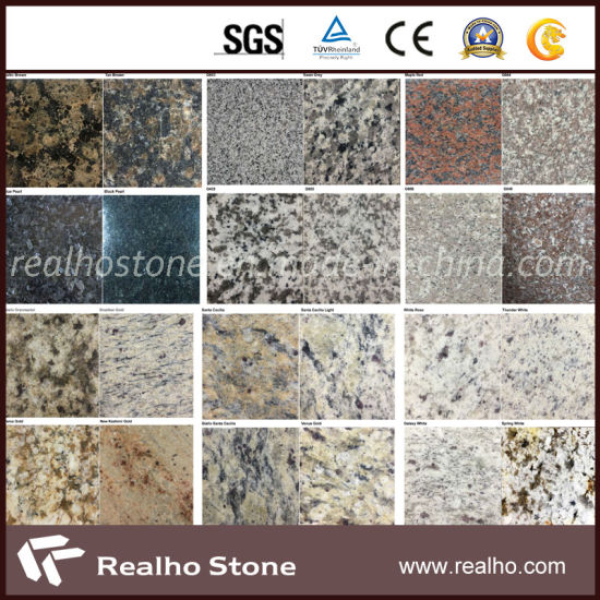 Polished/Flamed/Bushhamered/Brushed G603/G654/G664/G687/G682/G636/Tan Brown/Baltic Brown/Black Galaxy/Blue Pearl/China Red/Golden Yellow Granite pictures & photos
