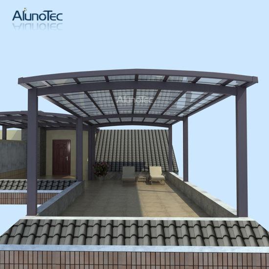 China Unique Design Single Slope Double Carport Canopy For Parking China Alunotec Carport Tent Polycarbonate Sheet Carport Canopy