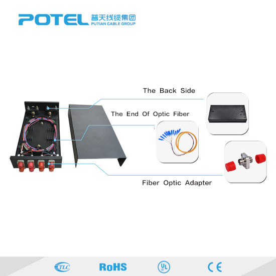 pc materia adapter fiber optic termination box 4/8/12 port ftth optical  fiber distribution box ftth sub-fiber optical cable box