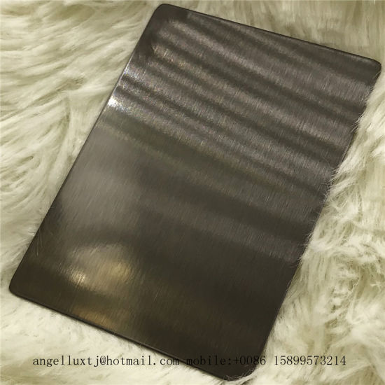 Satin Black Color Finish 304 Stainless Steel Sheet Interior Decoration Material pictures & photos