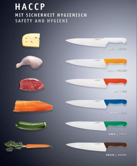 Coloured Kitchen Knives Set | China Haccp Colour Code Restaurant Stainless Steeel Kitchen Knife