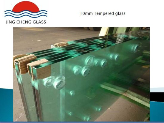 Clear/Color 10mm Tempered Glass for Building