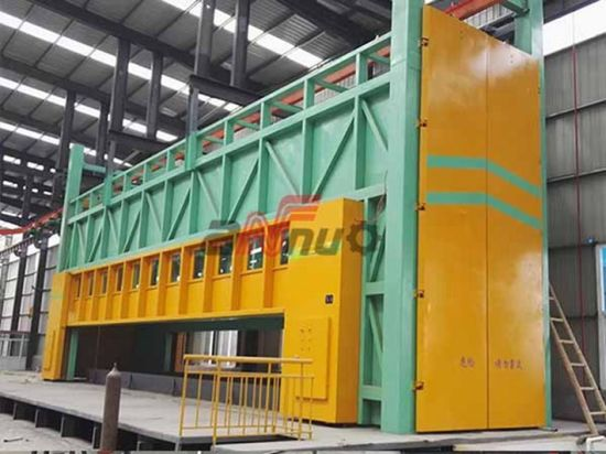 White Fume Enclosure Used for Zinc Fume Collecting During Galvanizing Process