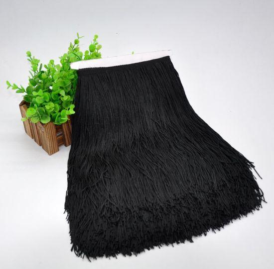 30cm Wholesale High Quality Polyester Chainette Fringe/Fringe Trim for Latin Dress