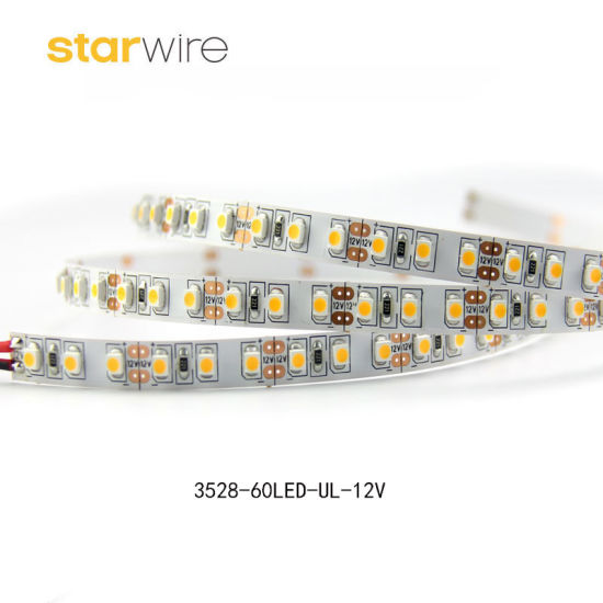 High Brightness 120LEDs/M 7.6W SMD Flexible 12V 2835 3528 LED Strip for Cabinet Light pictures & photos