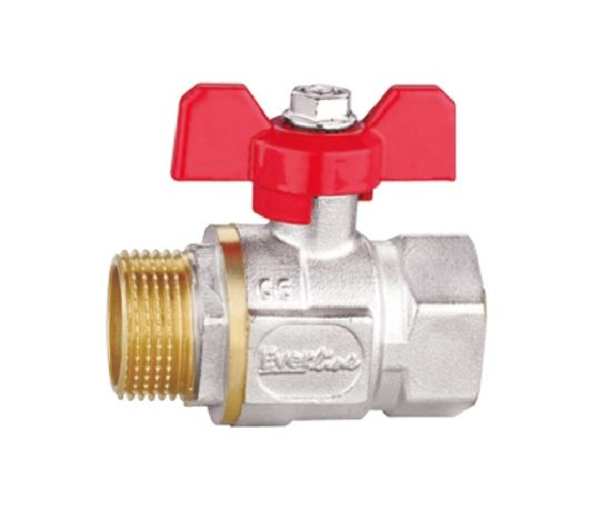 Nickel Plated Finish Ball Valve with Butterfly Handle/Water Valve (RB-DMF38A)