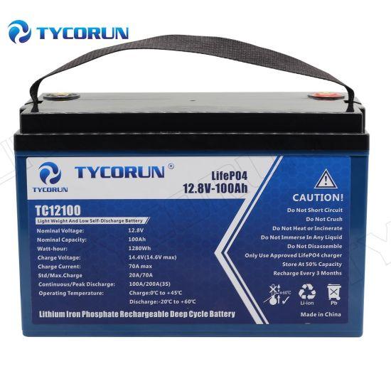 Tycorun Solar Batteries Lithium Ion LiFePO4 Battery 12V 100ah Energy Storage Battery