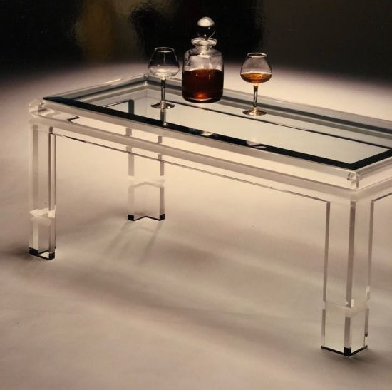 Acrylic Red Wine Table Diningroom