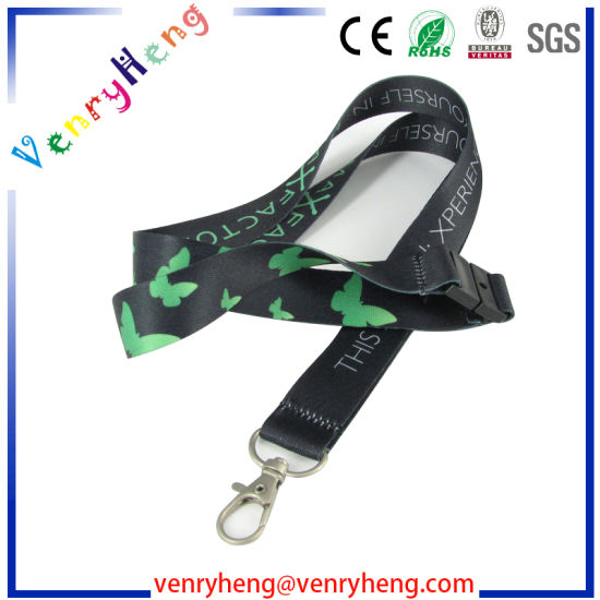Custom Fashion Sublimation Woven Lanyard for Promotion Gift pictures & photos