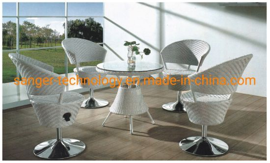Miraculous Creative Modern Rattan Furniture Outdoor Gardern Creative Chairs Table Cube Combination Set Low Price 5 Pcs Garden Beach Set Machost Co Dining Chair Design Ideas Machostcouk