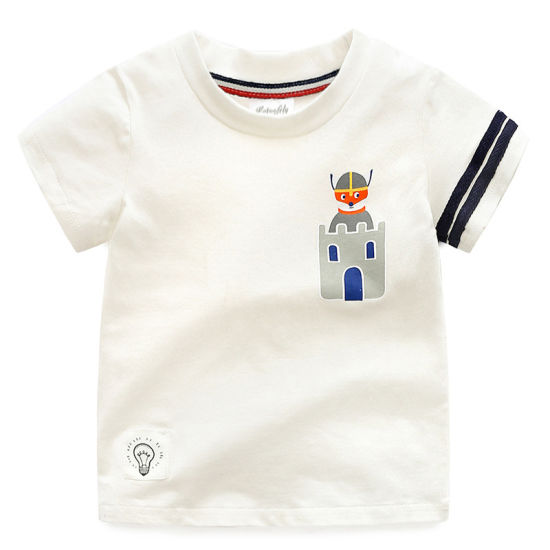 Bkd Baby Boys T Shirt for Children Short Sleeve T-Shirt
