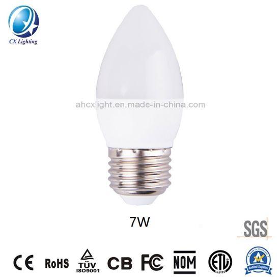 LED Candle Bulb C37 7W Decorative Lamp 630lm 220-240V Cool Temperature