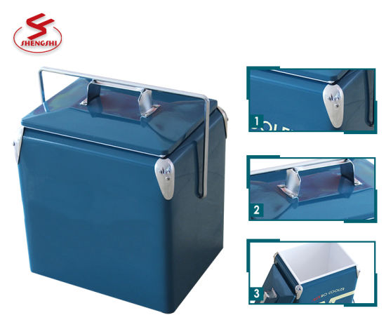 Wholesale Mini 17L Vintage Retro Beer Cooler Box for Camping