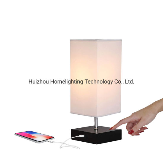 Jlt-9401 Home Creative Convenience Bedroom Bedside Desk Light Touch Dimming Table Lamp with USB Charging Port