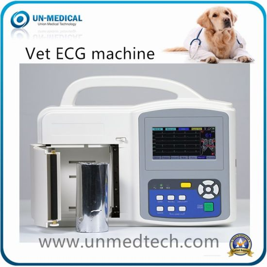 Portable Veterinary Six Channels Touch Screen ECG Machine Electrocardiograph