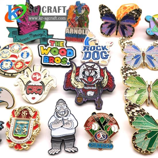 Customized Logo Hot Sell Pretty Enamel Badge Lapel Pin