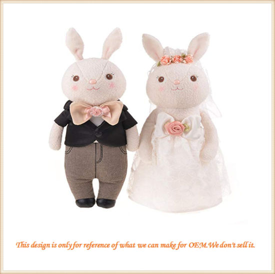 Custom Made Couple Bunny Wedding Gift for Friends