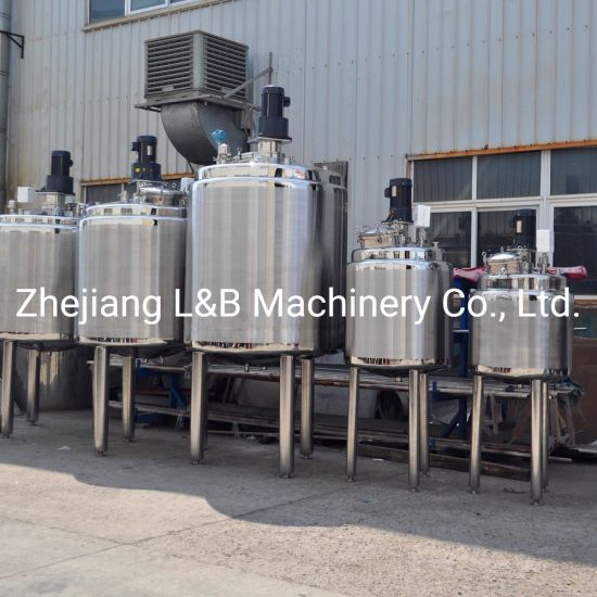 Jacket Mixing Tank Body Lotion Cream Making Machines for Sale pictures & photos