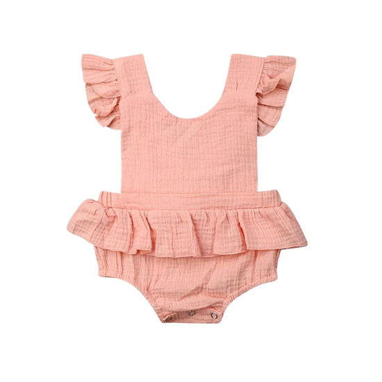 Bkd Summer Party Baby Clothes Natural Muslin Baby Party Bodysuit