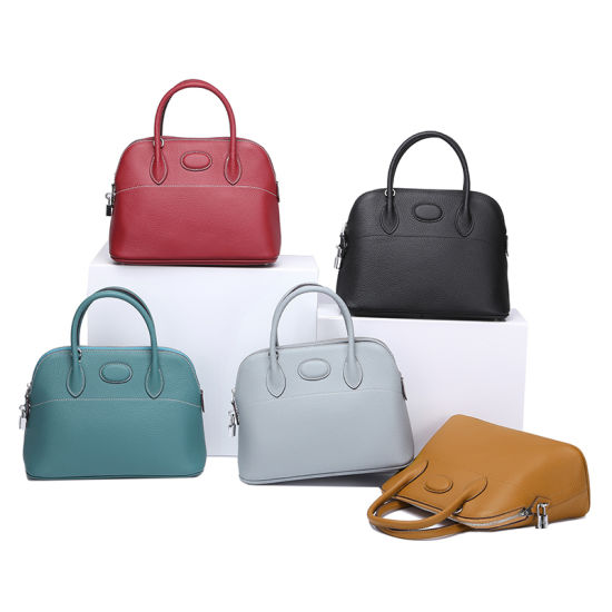 Genuine Leather Lady Shell Handbag