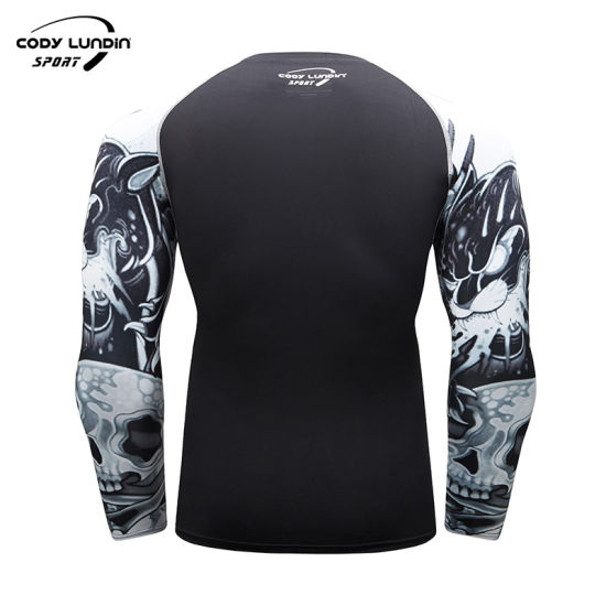 Sportswear Men Gym Compression Rashguard Long Sleeve Sports Shirt Men