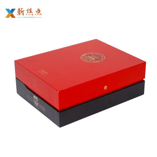 Wholesale Printing Logo Custom Book Shape Wine Packaging Gift Box