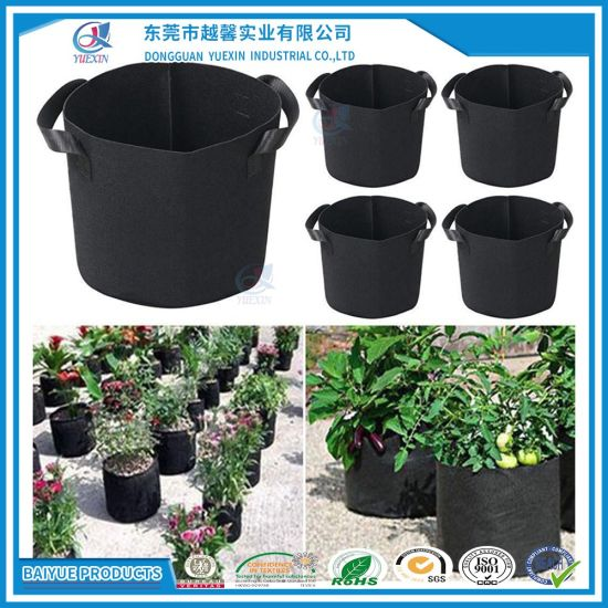 5 Pack Grow Bags Fabric Pots Root Pouch with Handle Planting Container 15 Gallon