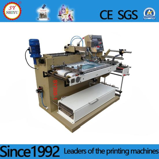 Automatilc Label Screen Printer Single Color Horizontal Screen Printing Machine