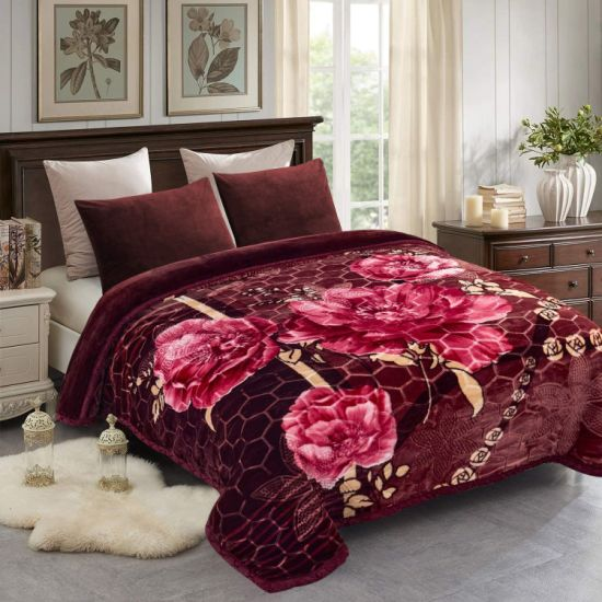 Plush Blankets Soft Warm Korean Style Mink Fleece Blanket Rose