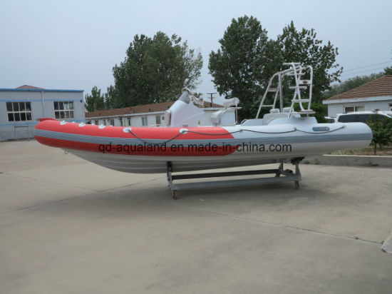 Aqualand 21.5feet 6.5m Rib inflatable Motor Boat/Diving /Rescue Boat (RIB650B) pictures & photos