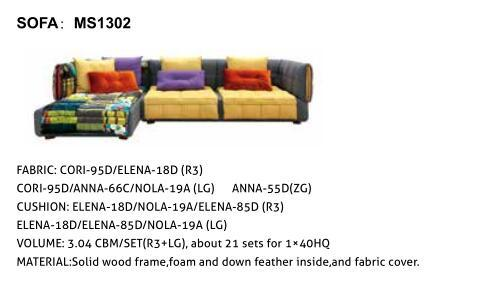 Home Garden Furniture L-Shape Fabric Sofa pictures & photos