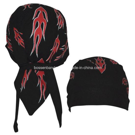 44b5e329bd7 OEM Produce Customized Logo Printed Promotional Biker Snowboard Bandana  Skull Caps Head Wrap