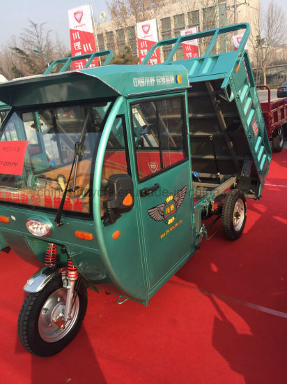 Hybrid 60V Electric and Gasoline Three Wheeler Tricycle for Passenger pictures & photos