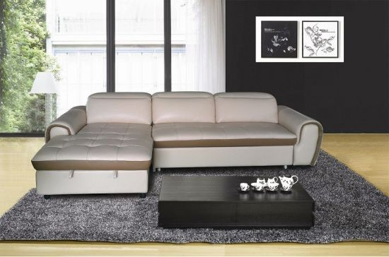 Adjustable Headrest Leather Recliner Sofa Furniture (Y992) pictures & photos