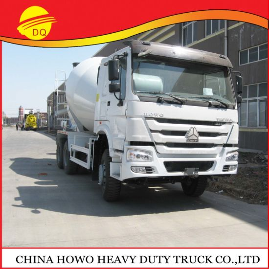 3 Axle Chinese Cement Transportation Vehicles Factory Direct Sale Promotion Price Sinotruk HOWO Concrete Mixertruck
