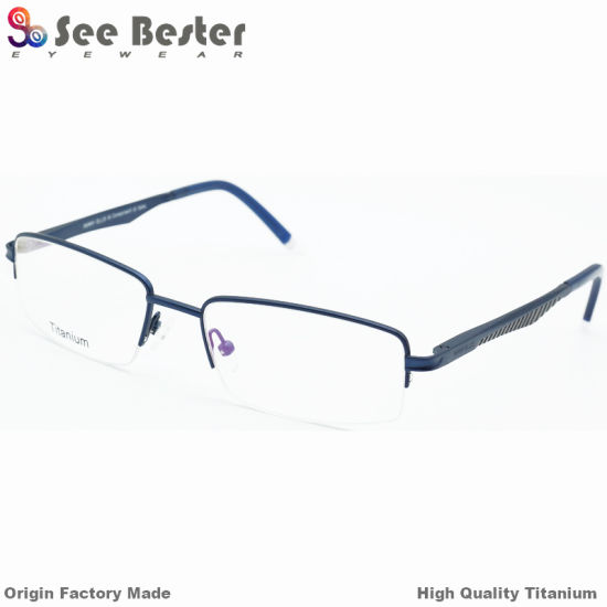 02756679a9d 100% Titanium High Quality Half Frame Optical Frames with Double Color  China OEM Memory Titanium Optical Frame High End Eye Glass Frames Eyewear  Spectacles