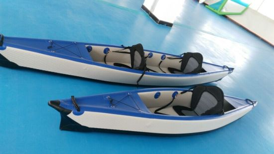 Good Quality Double Person Pontoon Boat, Kayak, Canoe with Paddle pictures & photos