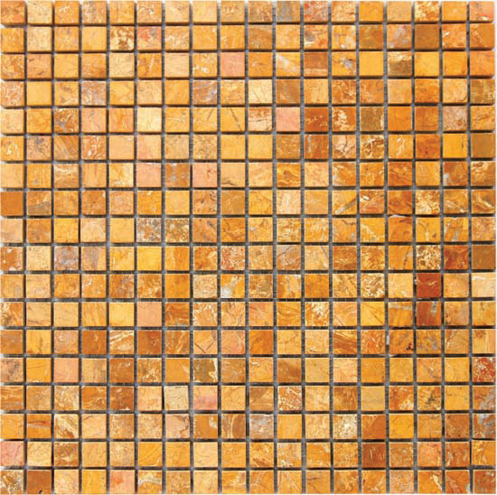 Gold Yellow Orange Marble Mosaic Tiles for Bathroom pictures & photos
