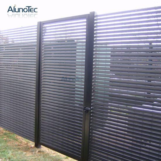Etonnant Garden Fencing Panel Screen Aluminum Louver Fence Gate