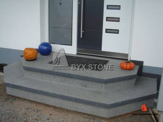 Design Prefab Natural G654 Stone Granite Outdoor Steps / Stairs